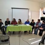 Foto de archivo. El grupo de articulación Juárez en conferencia de prensa