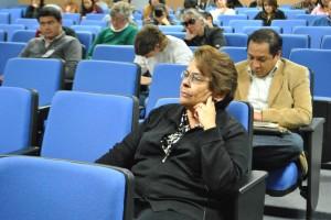 Emilia en el Foro contra la tortura. Fotografía de Leobardo Alvarado