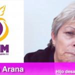 Imagen compuesta con el  logotipo del Centro de Derechos Humanos de las Mujeres A.C. y la señora Martha Arana, madre que busca a su hijo desaparecido, en Cuauhtémoc, Chihuahua. Autor: Leobardo Alvarado.