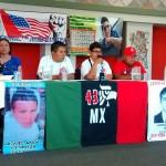 CARAVANA-43: Foro comunitario en La Mujer Obrera, en Mayapán. Habla la señora Blanca Luz Nava, madre de Jorge Alvarez Nava, uno de los 43 normalistas desaparecidos por el criminal Estado mexicano. Foto de Carlos Marentes. Marzo 16, 2015.