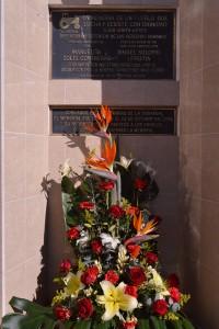 """Memorial en honor a Ismael Solorio """"El chuletas"""" y Manuelita Solís, activistas asesinados el 22 de octubre del 2012. Fotografía de Bryan Soto."""